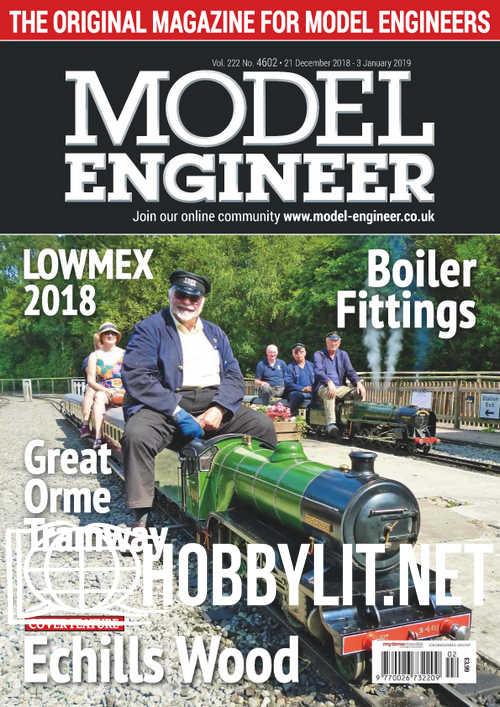 Model Engineer 4602 - 21 December 2018