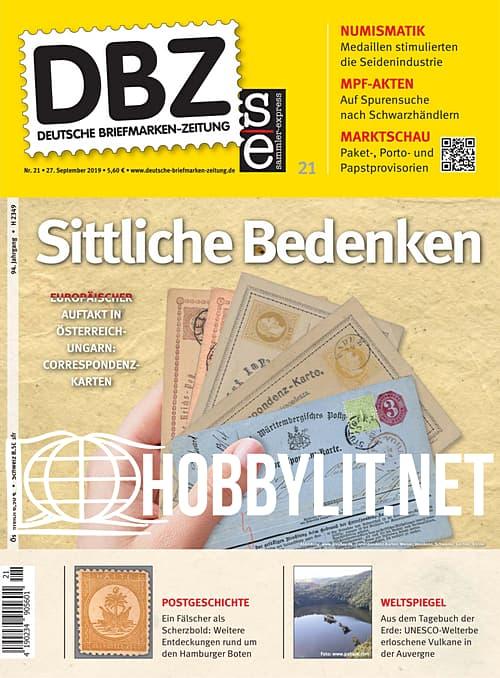 Deutsche Briefmarken-Zeitung 21, 2019
