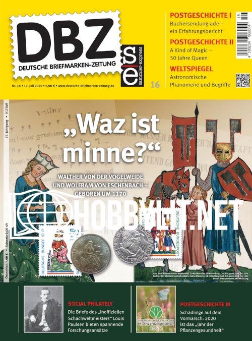 Deutsche Briefmarken-Zeitung 16 – 17 Juli 2020 16dbz