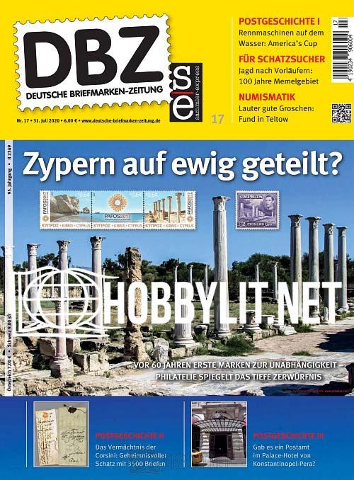 Deutsche Briefmarken-Zeitung 17 - 31 Juli 2020