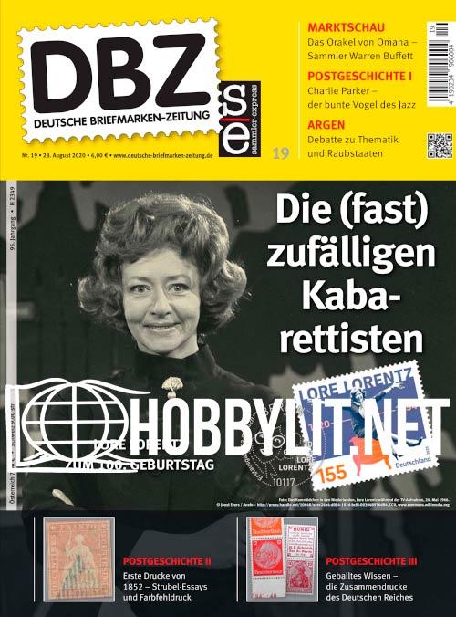 Deutsche Briefmarken-Zeitung 19 - 28 August 2020